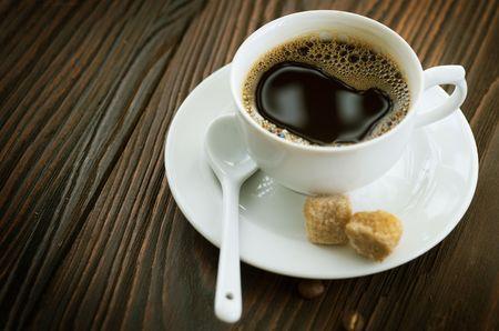 Beautiful Hot Coffee close-up photo