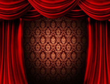 red curtain:  Red Curtain Stock Photo