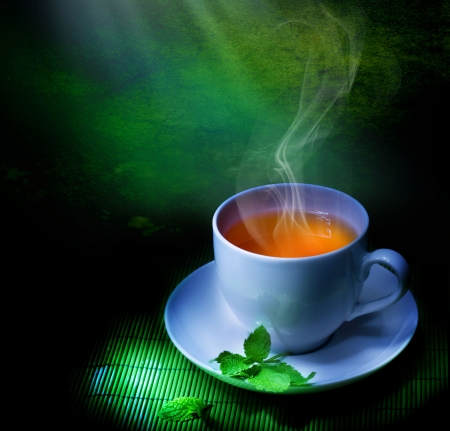 white tea: Perfect green tea