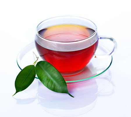 translucent red: Tea Stock Photo