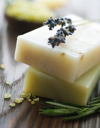 Natural Soap with herbs photo
