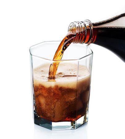 colas: Cola versantesi isolata on white  Archivio Fotografico