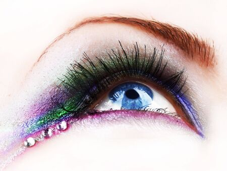 art processing: Beautiful fashion eye makeup