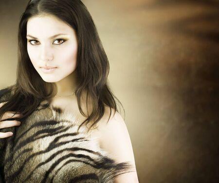 Beautiful Savage Girl portrait Stock Photo - 7683977
