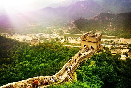muralla china: Gran muralla de China  Foto de archivo