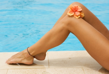 woman legs: Vacation concept