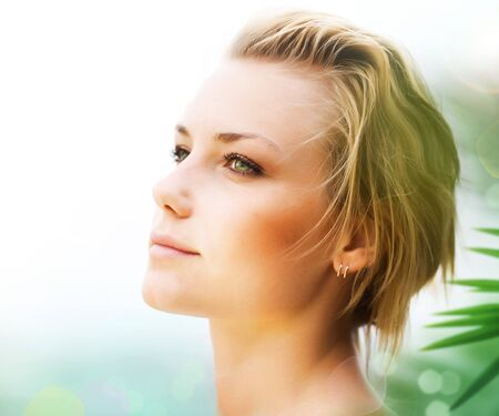 Beautiful Young Woman Face Stock Photo - 8718341