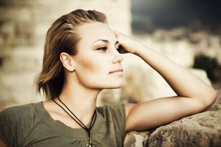 Portrait of Beautiful Stylish Girl Stock Photo - 8718492