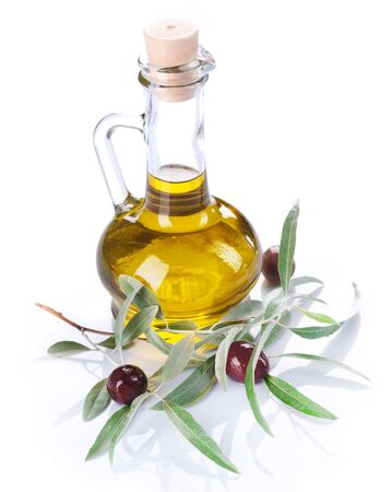 Olive Oil over white Stock Photo - 7327815