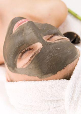 Spa Facial Mud Mask Stock Photo - 7330053