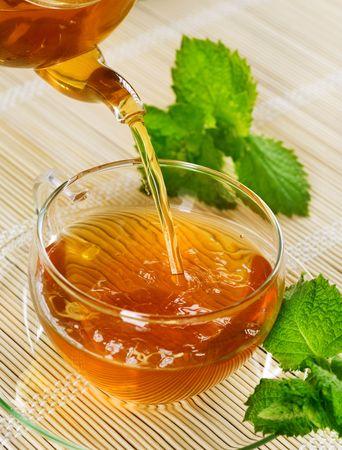 herbal tea: Pouring Tea