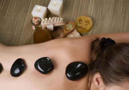 Spa. Hot Stone Massage  Stock Photo - 8721263