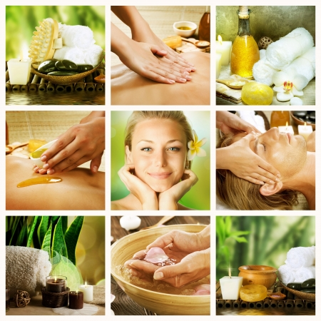 Spa Collage.Dayspa concept Stock Photo - 7683075