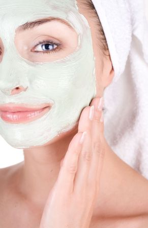 Spa Facial Mask. Dayspa  photo