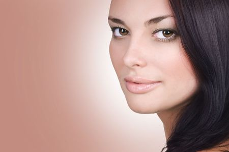 Beautiful Young Woman Face. Perfect Skin Stock Photo - 9202558