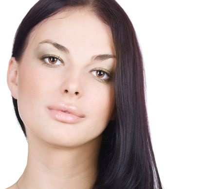 Beautiful Young Woman Face photo