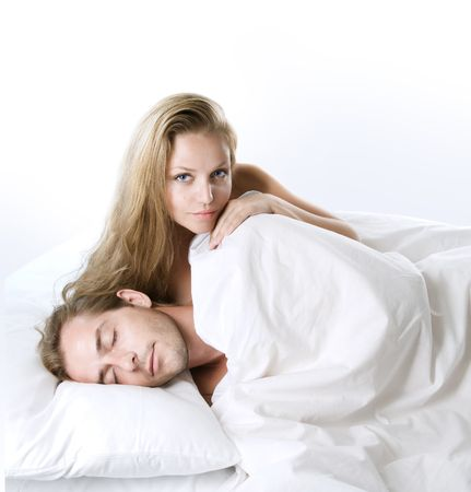 Couple in the bed. Stock Photo - 7683384