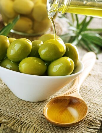 Olives and Olive Oil Stock Photo - 7683107