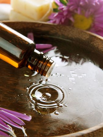 Aromatherapy.Essential oil.Spa treatment photo