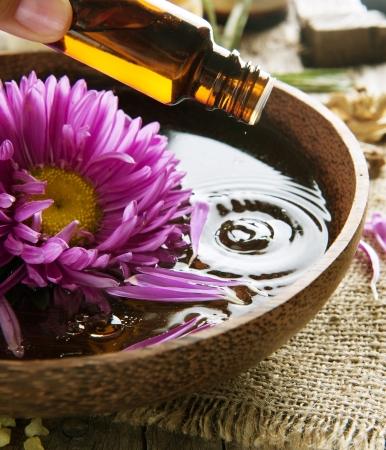 Traitement de oil.Spa de Aromatherapy.Essential Banque d'images