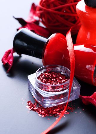 Red Nail Polish Closeup photo