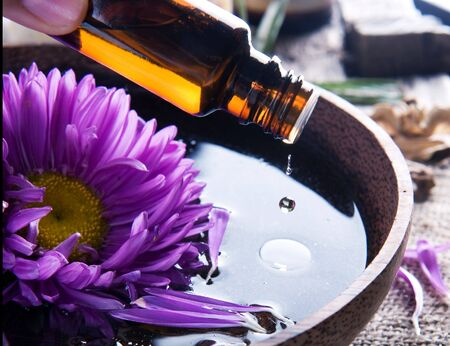 pampering: Aromatherapy.Essential oil.Spa treatment