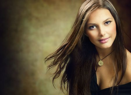 Beautiful Young Woman.Amazing Brunette photo