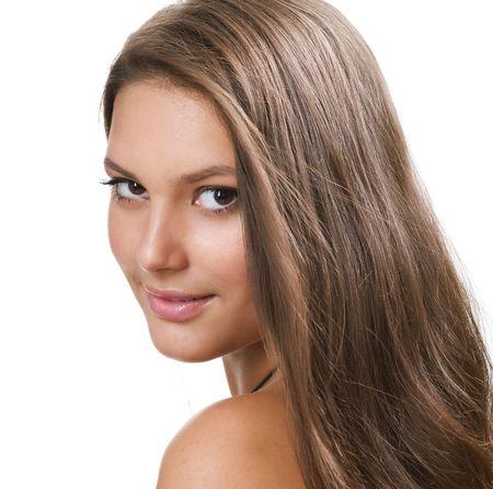 caucasians: Beautiful Healthy Girl portrait Stock Photo