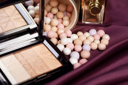 Make-up.Makeup accessories background photo