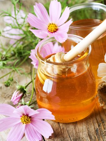 bocaux en verre: Miel