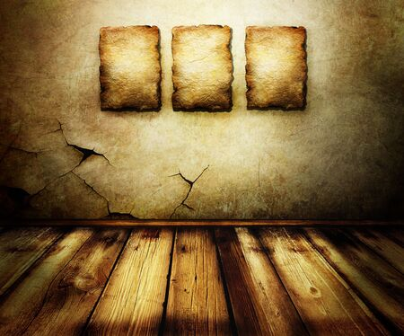 grunge background texture: Grungy Room interior Stock Photo