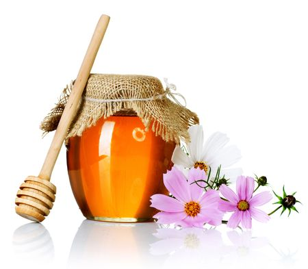 glass jar: Honey