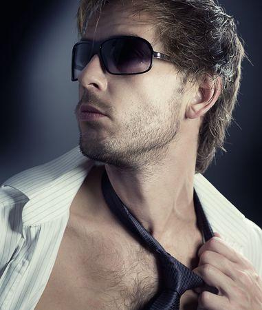 Stylish fashion young Man portrait Stock Photo - 7861999