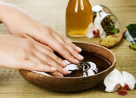 manicure woman: Hands Spa