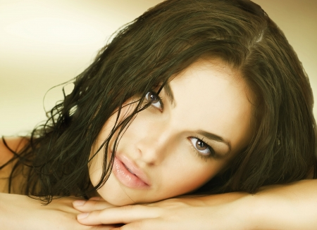 Beautiful Young Woman's Face photo