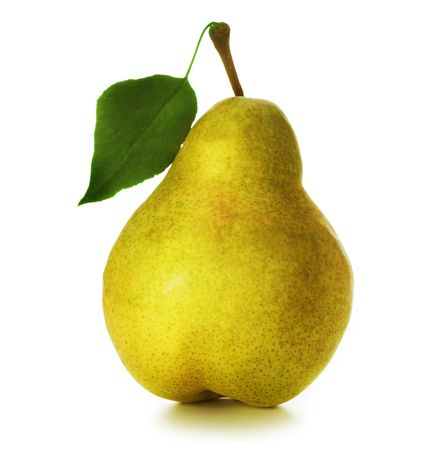 one item: Pear over white