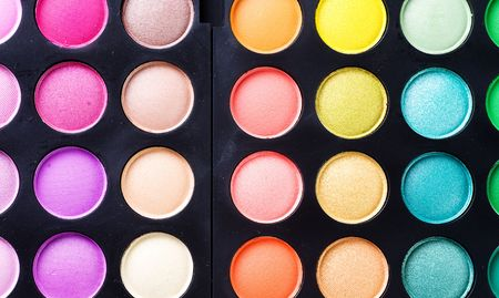Makeup professional shadows palette Stock Photo - 8721919