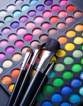 Make-up professional shadows palette Stock Photo - 8721916