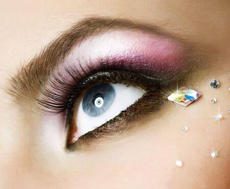 ojos: Maquillaje Foto de archivo