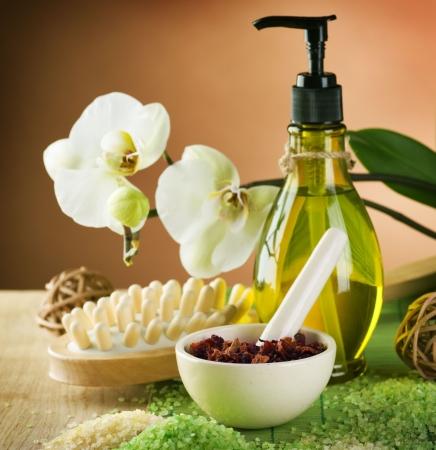 masaje: Tratamiento de atención de spa y cuerpo