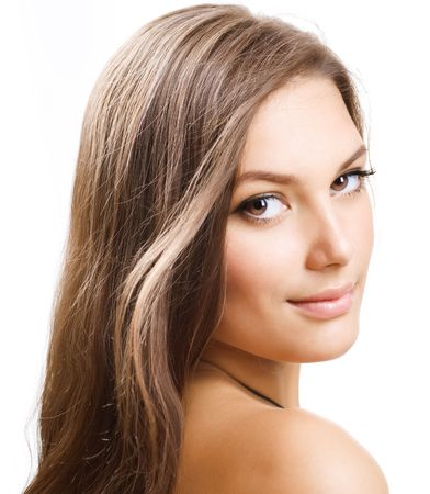 Beautiful Girl with Long Hair Stock Photo - 9367503