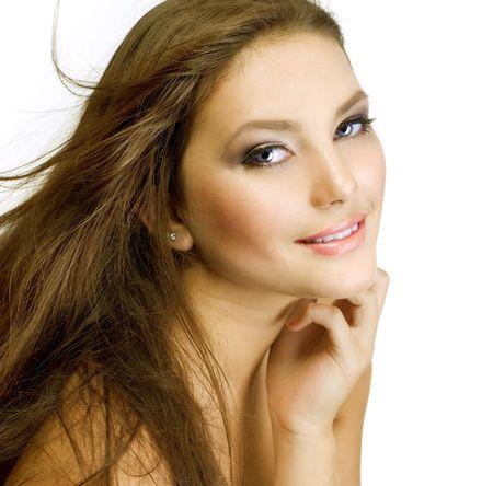 Beautiful Girl with Long Hair Stock Photo - 9367524