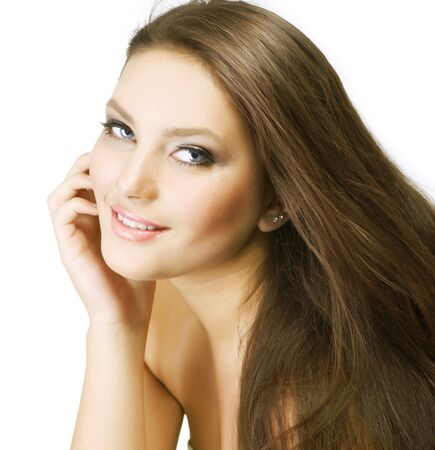 Beautiful Girl with Long Hair photo