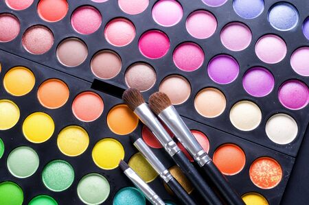 Makeup professional shadows palette Stock Photo - 8721926