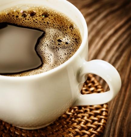 drinking coffee: Caf�  Foto de archivo