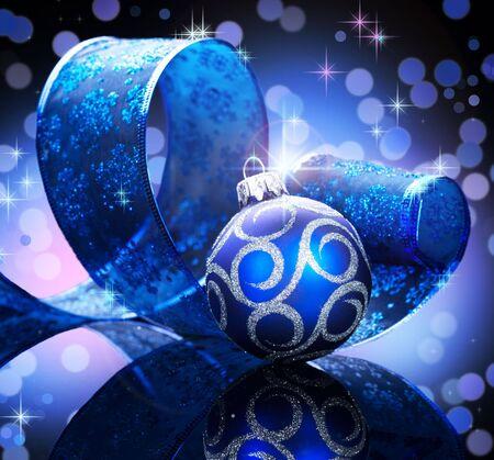 Christmas decoration isolated on black photo