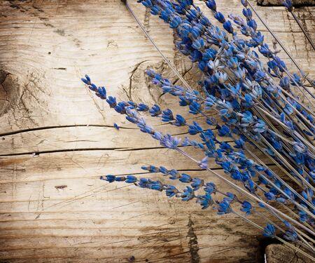 fiori di lavanda: Lavanda legno background.With copia-spazio