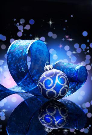 Christmas Background over black Stock Photo - 8392482