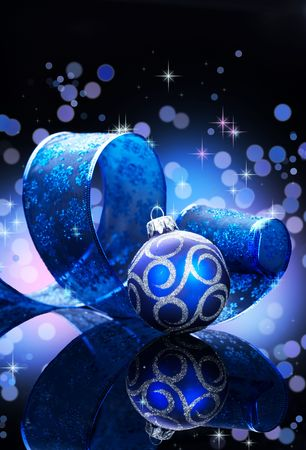 Weihnachten Hintergrund �ber schwarz Lizenzfreie Bilder