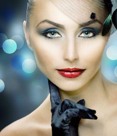 smoky black: Beautiful Woman. Perfect make-up
